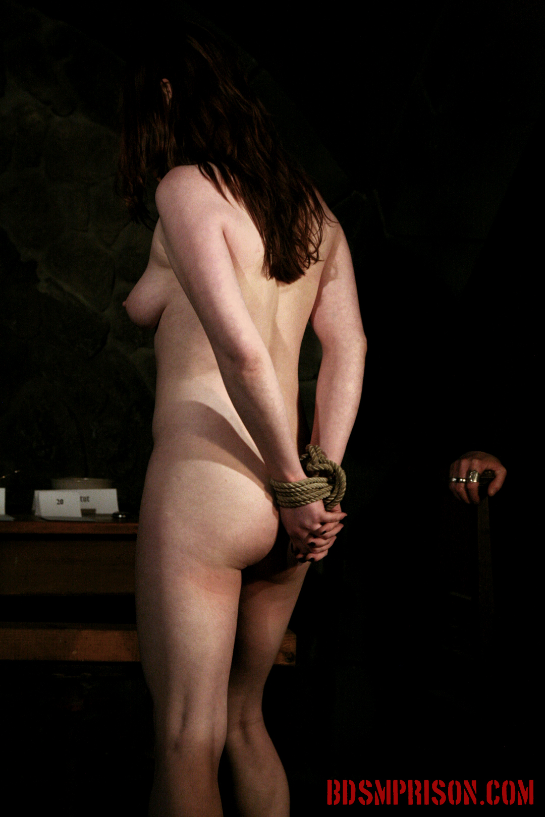 Sophie endures domination bondage sex toys dildo deepthroat bj. Sophie is punish daily by three prison guards. She's been sentenced to lifelong sex slave traininig. She wakes up bound to a chair, nipple weights hanging low to the floor. Sophie will endure three BDSM Masters, domination, bondage, breast, kitty and nipple tortured with clamps, intense spanking, whipping and smacking, humiliation, sex toys, dildo with a deepthroat BJ. They even have whip cream for her. This prison slut has earned a treat.